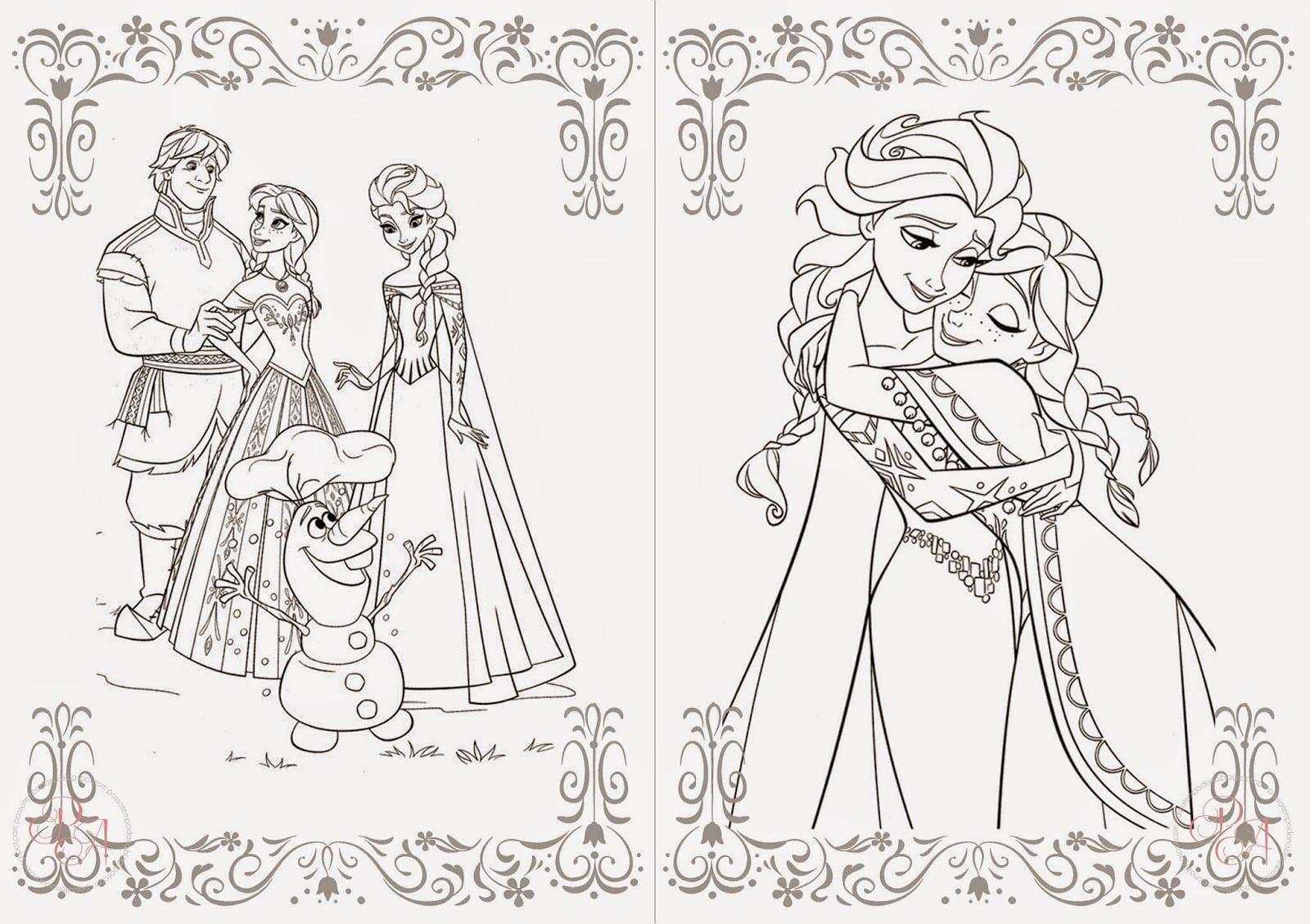 Princesa Frozen Para Colorir Imagens P On Colorindo Princesa Elsa