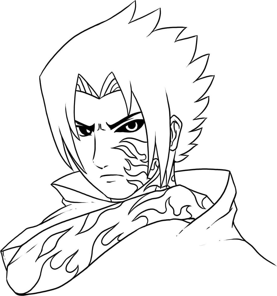 Sasuke Para Colorir E Imprimir