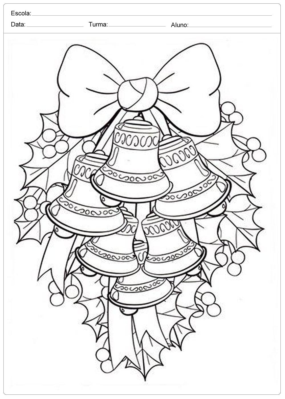 Desenhos De Sinos De Natal Para Colorir E Imprimir — SÓ Escola