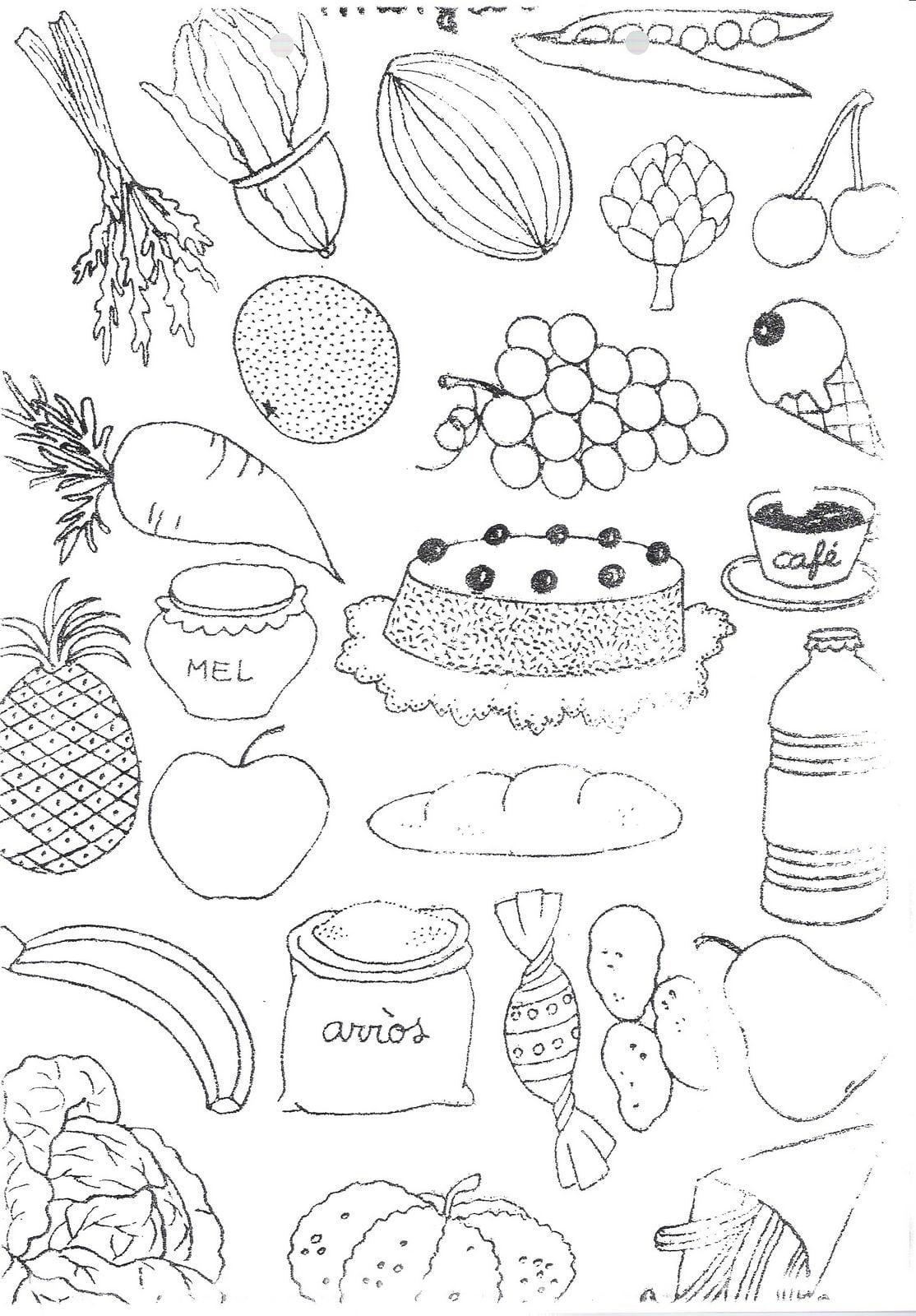 Dibujos Para Colorear  Dibujos De Alimentos Para Colorear