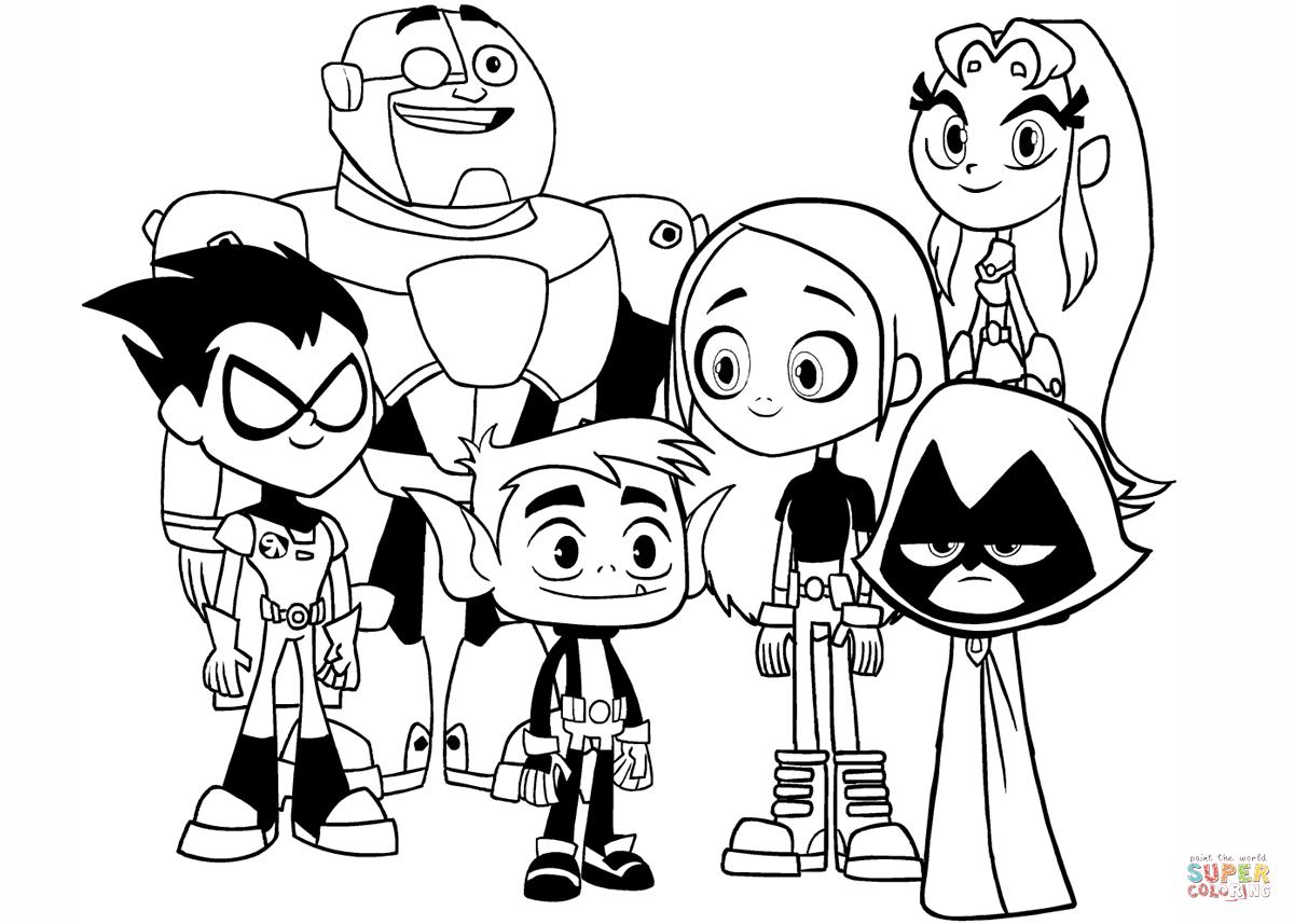 Desenho De Teen Titans Go! Para Colorir