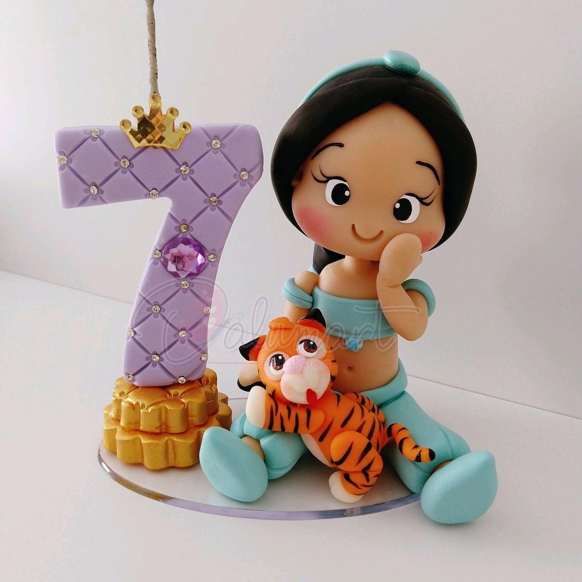 Topo De Bolo Princesa Jasmine No Elo7
