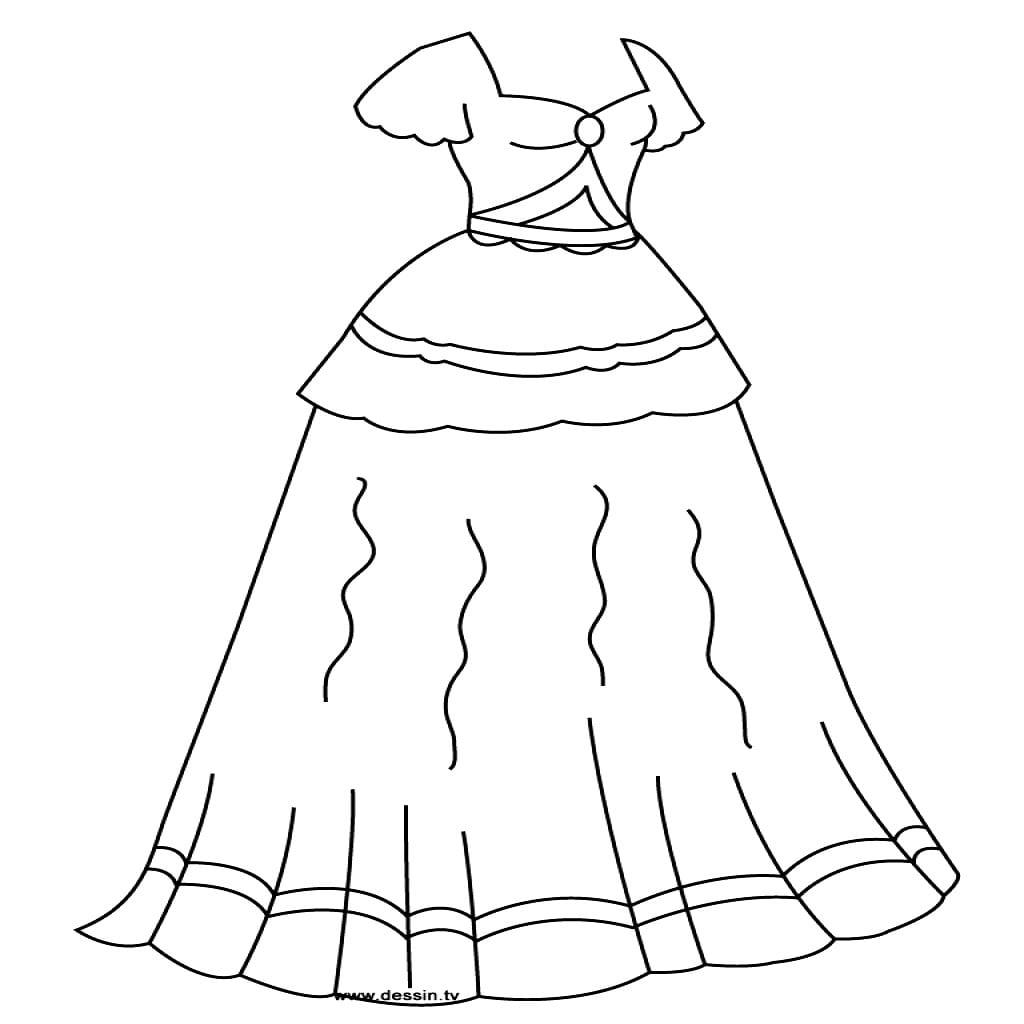 Vestidos Para Pintar Dibujosparacolorear