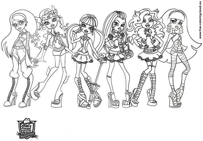 Desenhos Para Pintar E Imprimir Da Monster High