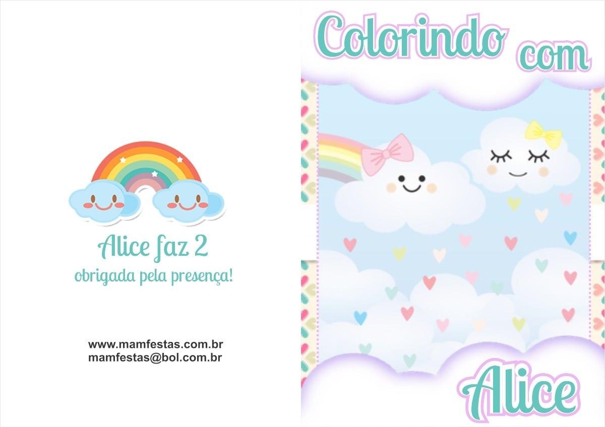 20 Livrinhos De Colorir Chuva De Amor Personalizados R$ 3,40