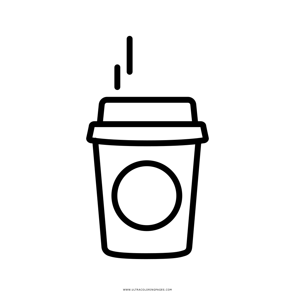 Pequeno Café Desenho Para Colorir