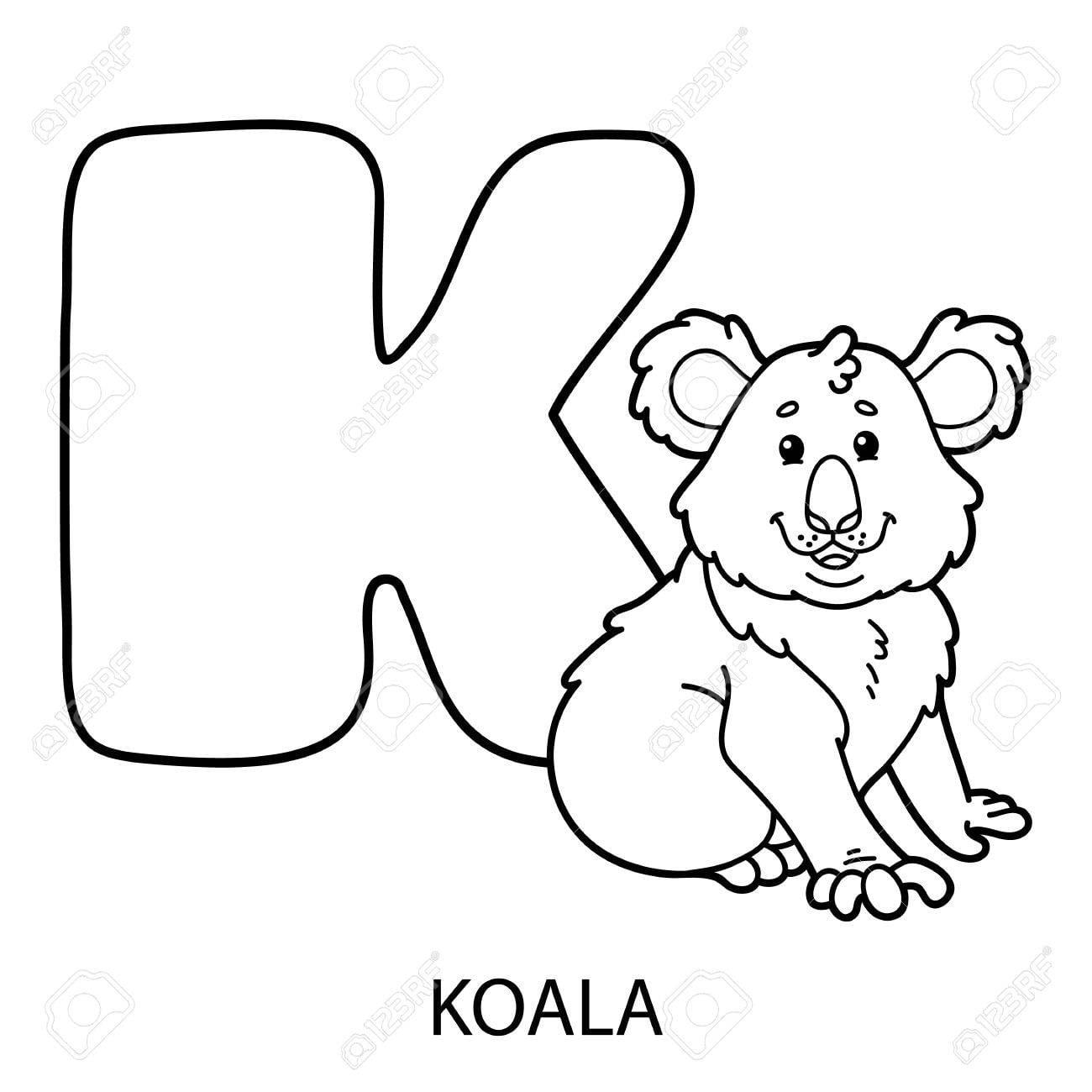 Colorear Alfabeto Animal  Vector La Ilustración De La Página
