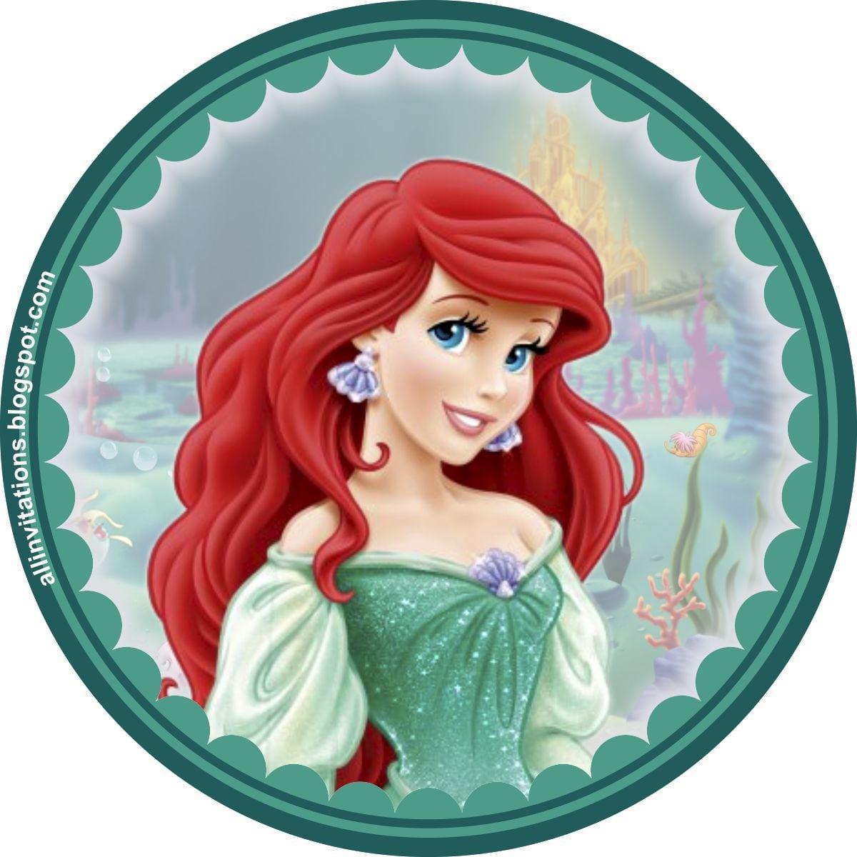 Platilla Boton Princesa Ariel La Sirenita …
