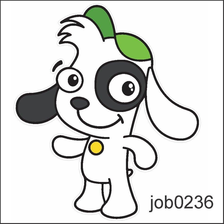 Adesivo Doki Discovery Kids Desenho Cachorro Job0236