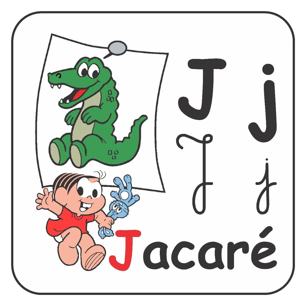 Alfabeto Ilustrado Com Letra Maiúscula E Minúscula Para Imprimir