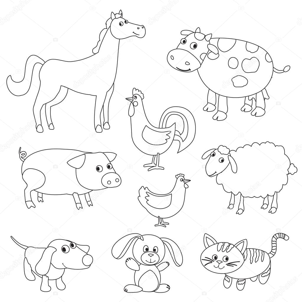 Imagens De Animais Da Fazenda Para Colorir – Pampekids Net