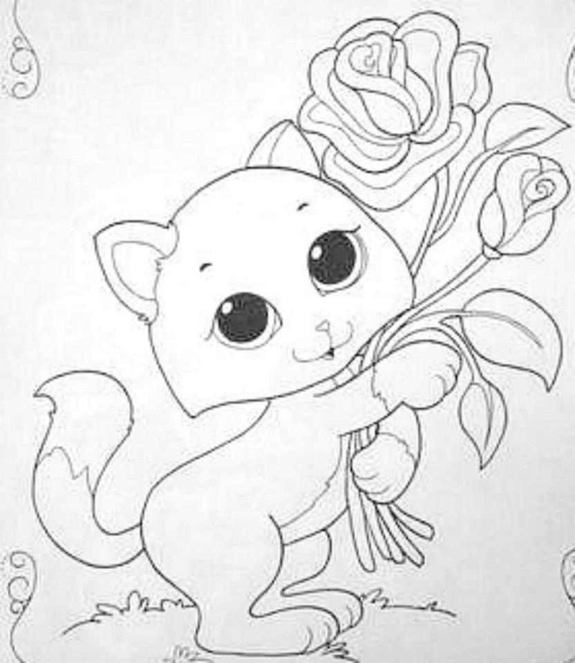 Desenhos De Gatinhos Para Colorir – Pampekids Net