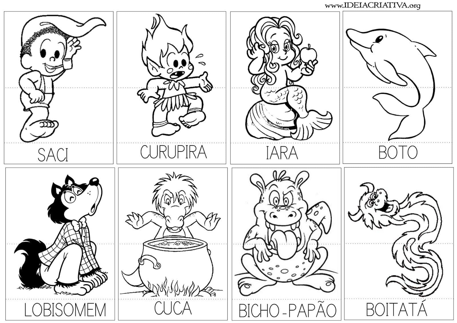 Personagens Do Folclore Brasileiro Para Imprimir