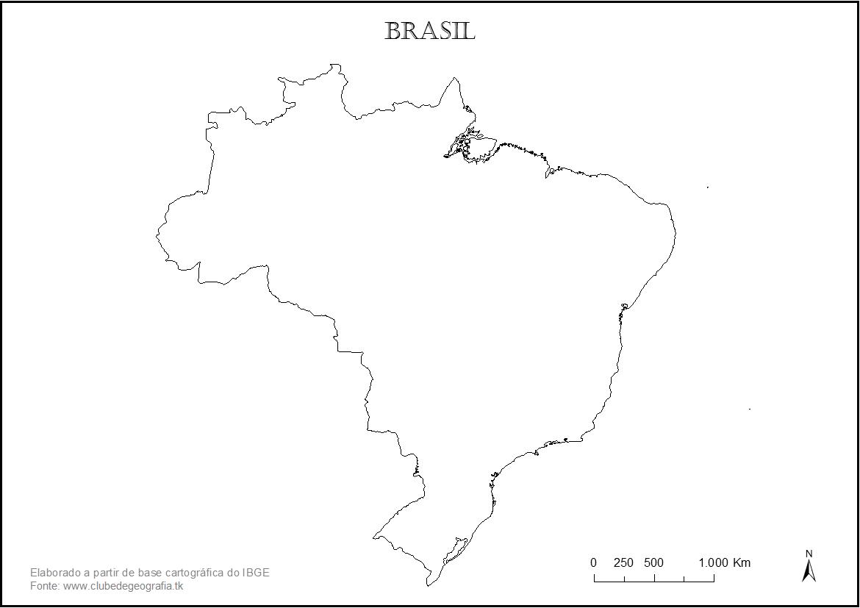 Contorno Do Mapa Do Brasil – Nerd Professor