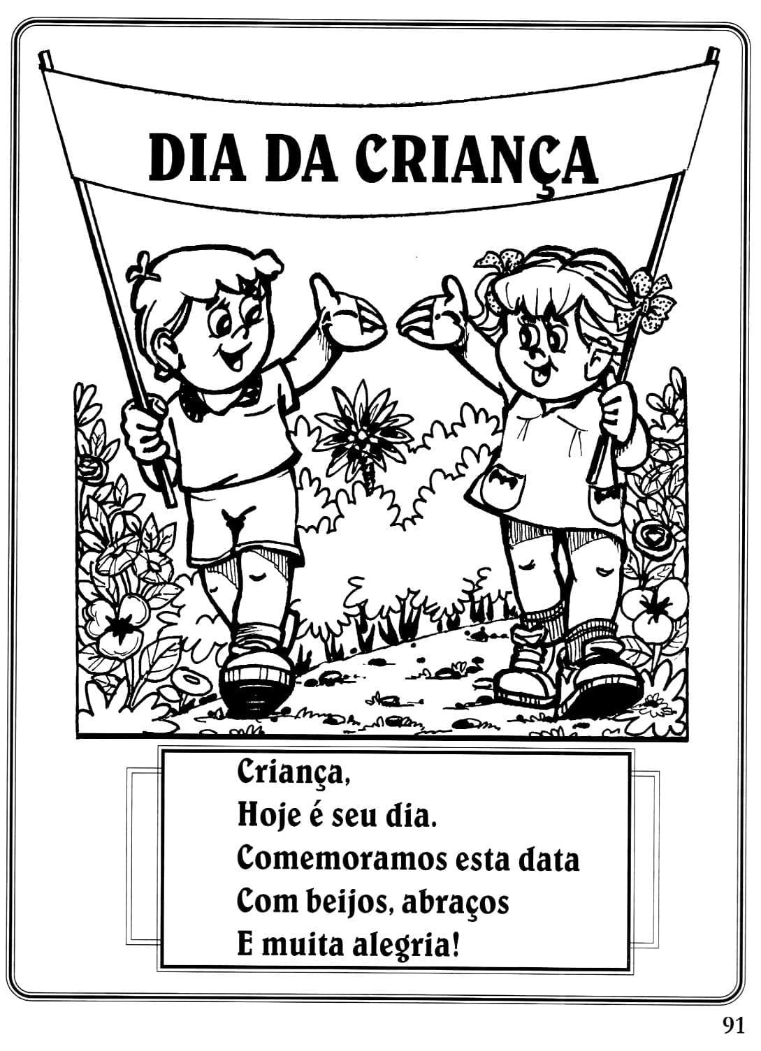 Desenho Do Dia Das Crian As