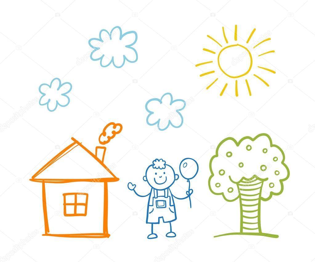 Doodle Desenho Infantil — Vetores De Stock © Teploleta  103417876