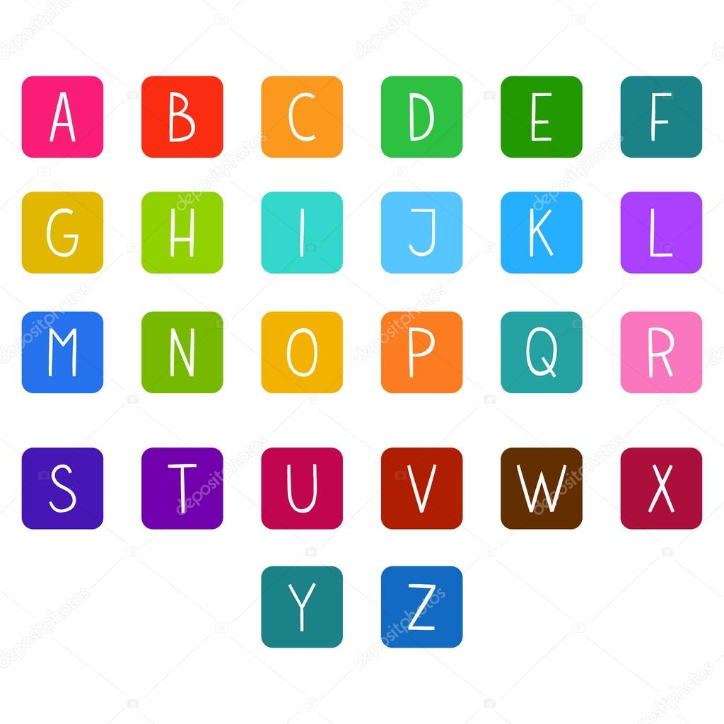Apartamento Colorido Alfabeto Completo De Desenhos Animados