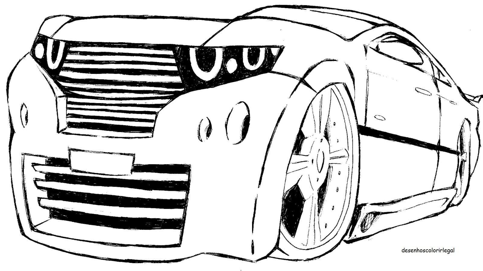 Desenhos Colorir Legal  Desenho De Carro Tuning Para Colorir E