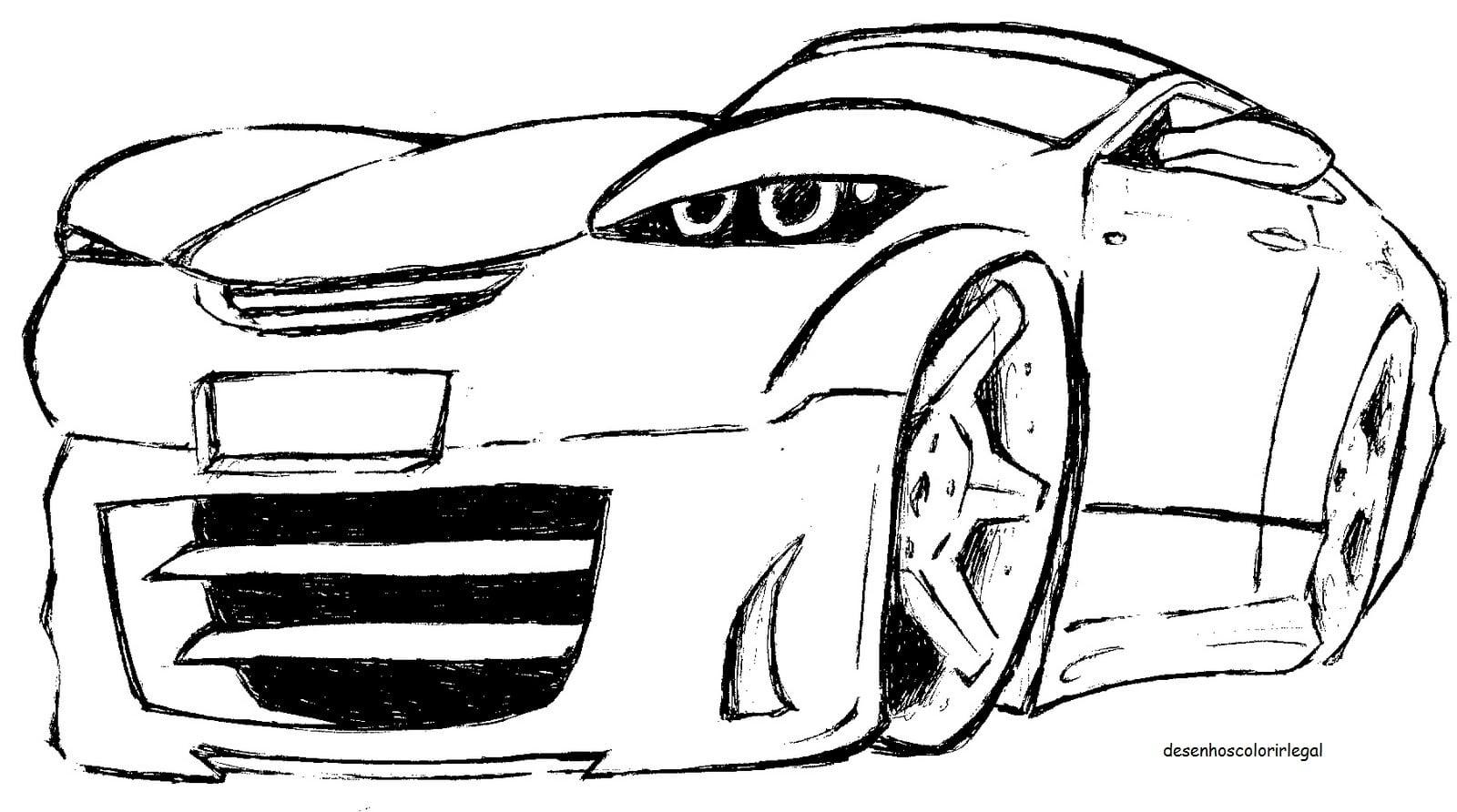 Desenhos Colorir Legal  Desenho De Carro Tunado E Rebaixado Para