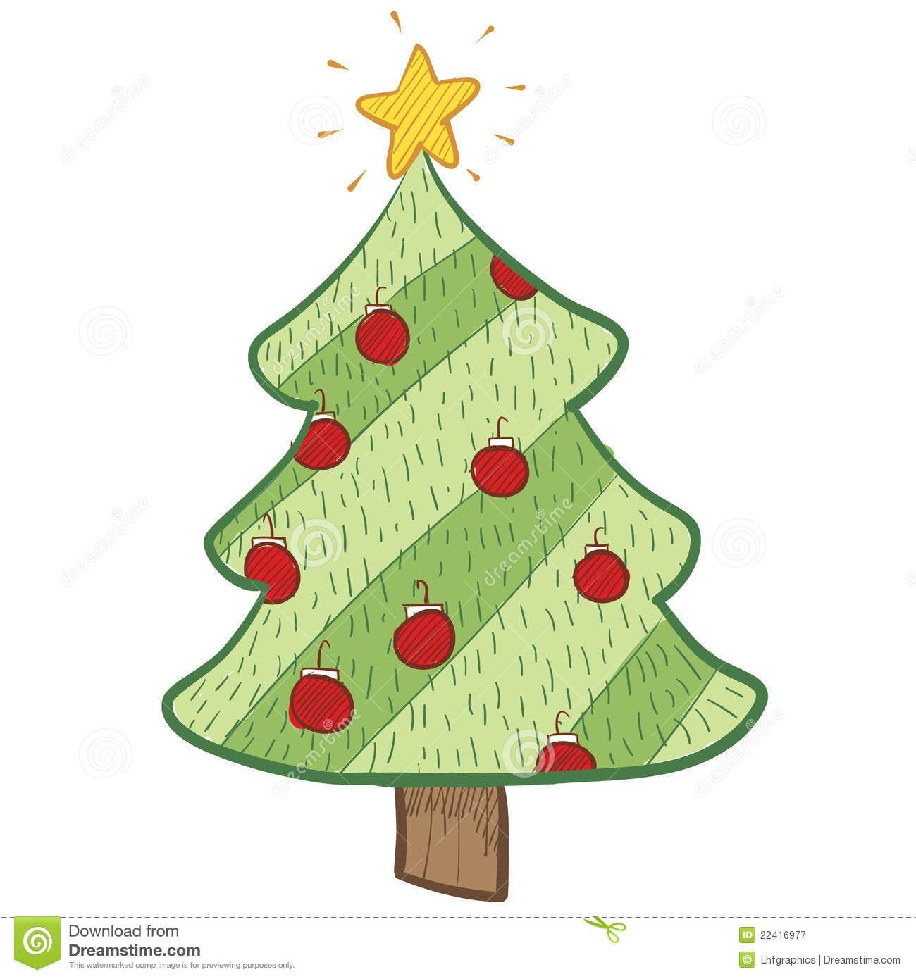 Desenho Colorido Da árvore De Natal Ilustração Do Vetor