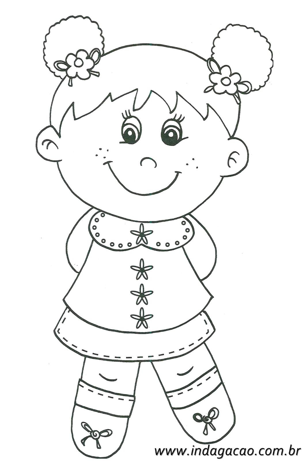 desenhos de meninas para colorir
