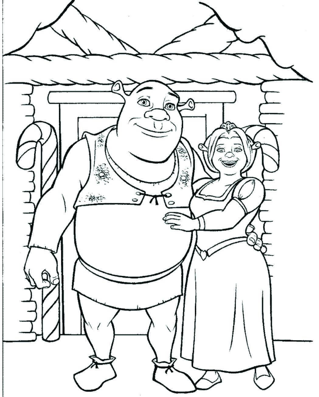 Desenho Do Shrek Para Colorir – Pampekids Net