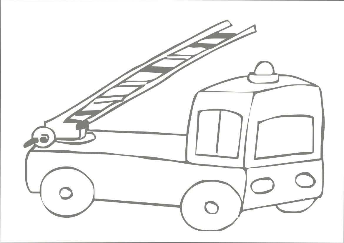 Desenhos Para Colorir  Desenho Para Colorir De Caminhão De