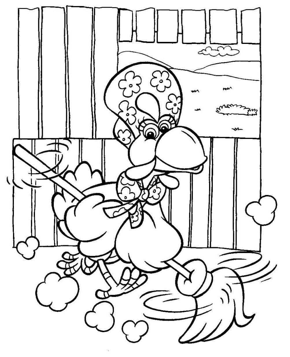 Desenho Do Cocorico Para Colorir