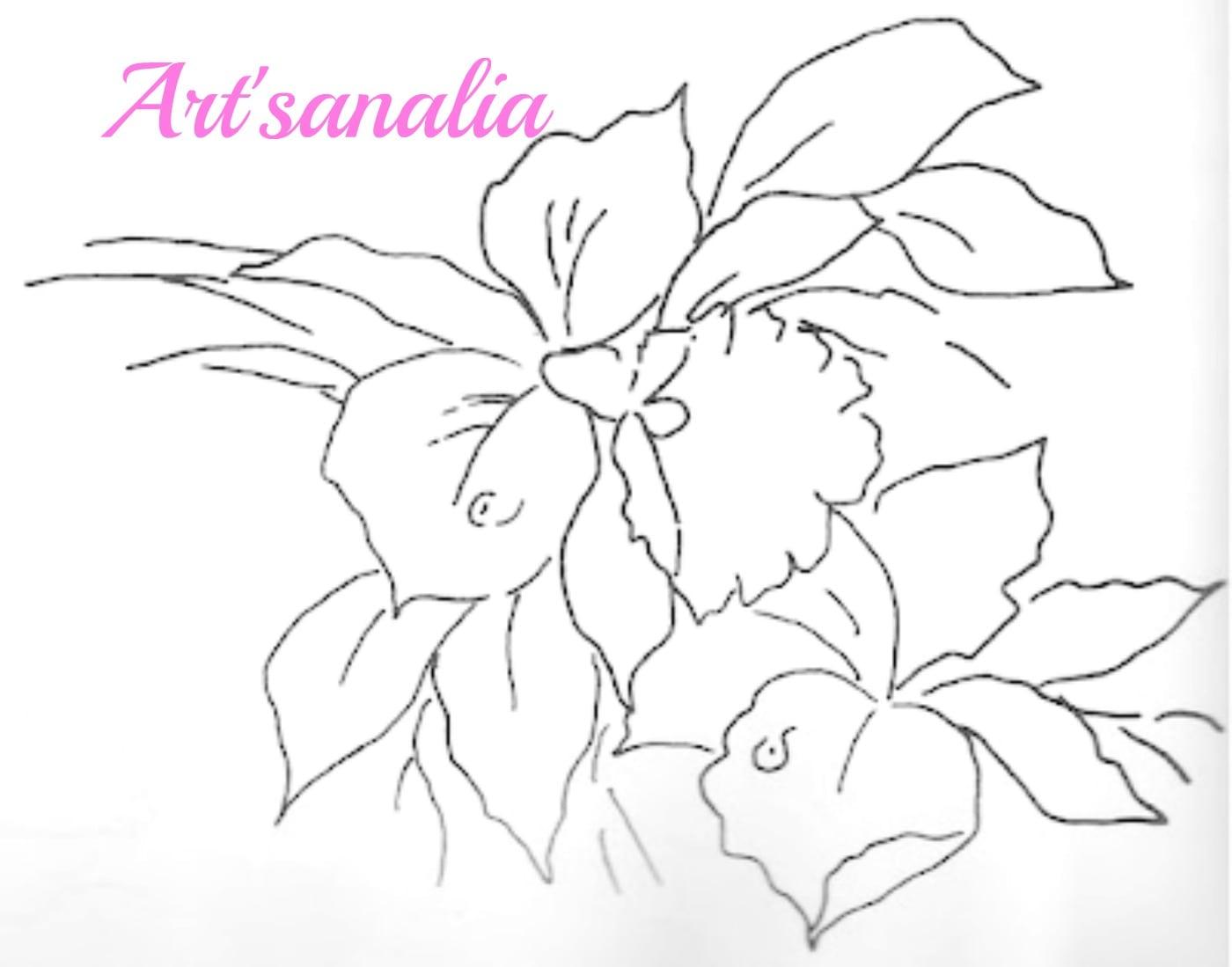 Desenhos De Orquideas Para Pintar