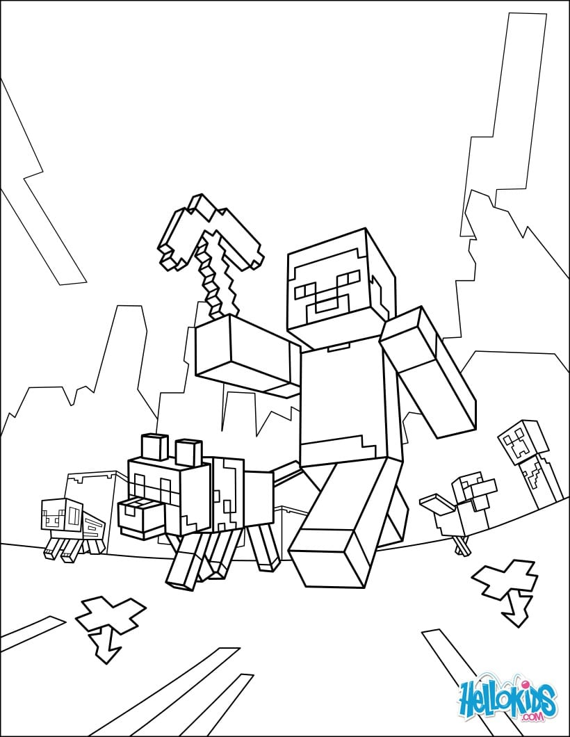 Jogos De Colorir Minecraft – Pampekids Net