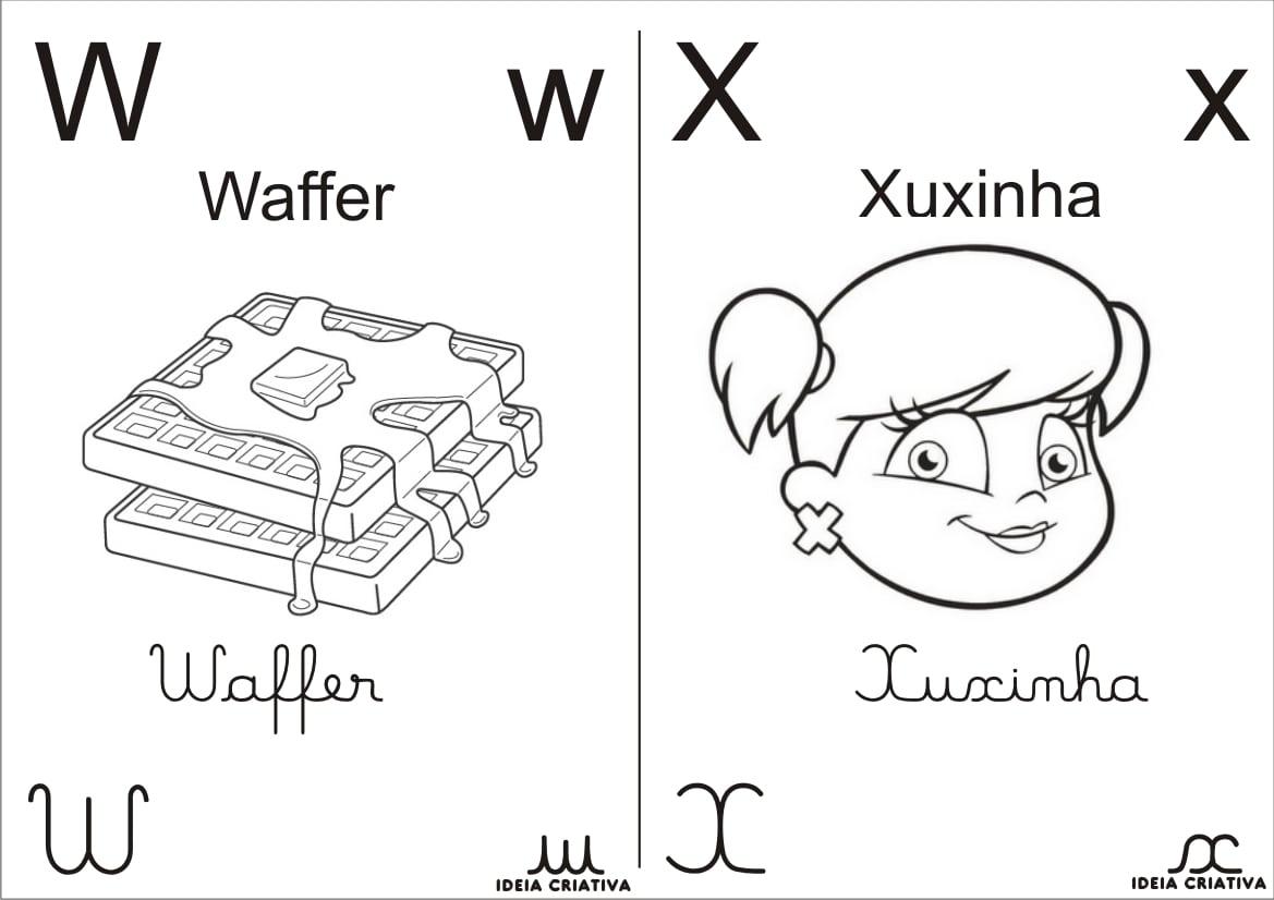 Alfabeto Completo Para Colorir