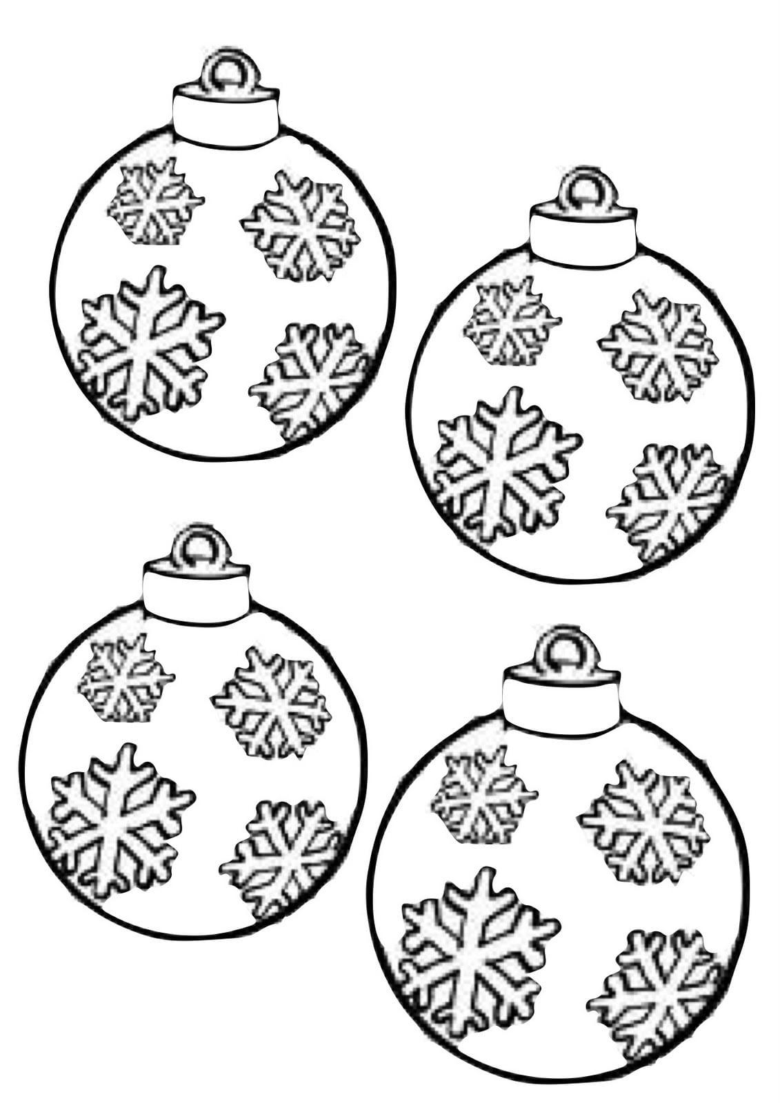Bolas De Natal Para Colorir