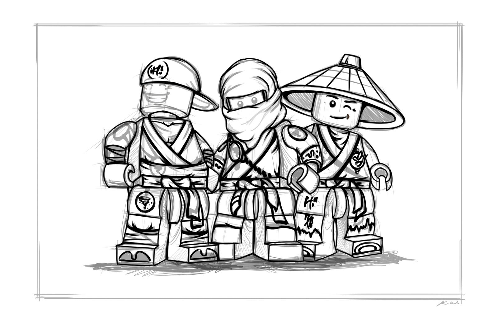 Colorir Ninjago