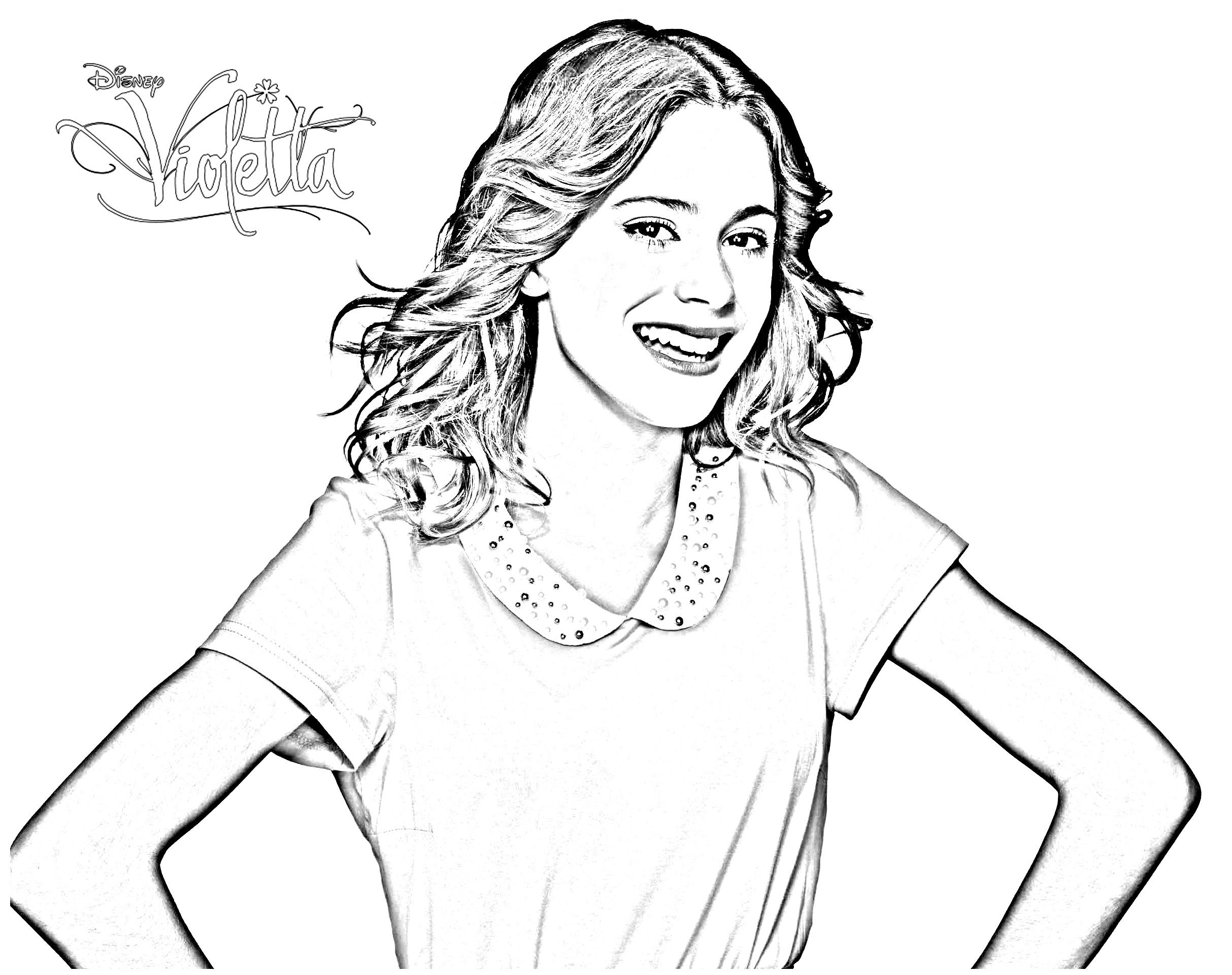 Desenho Para Colorir Violetta Komyshan