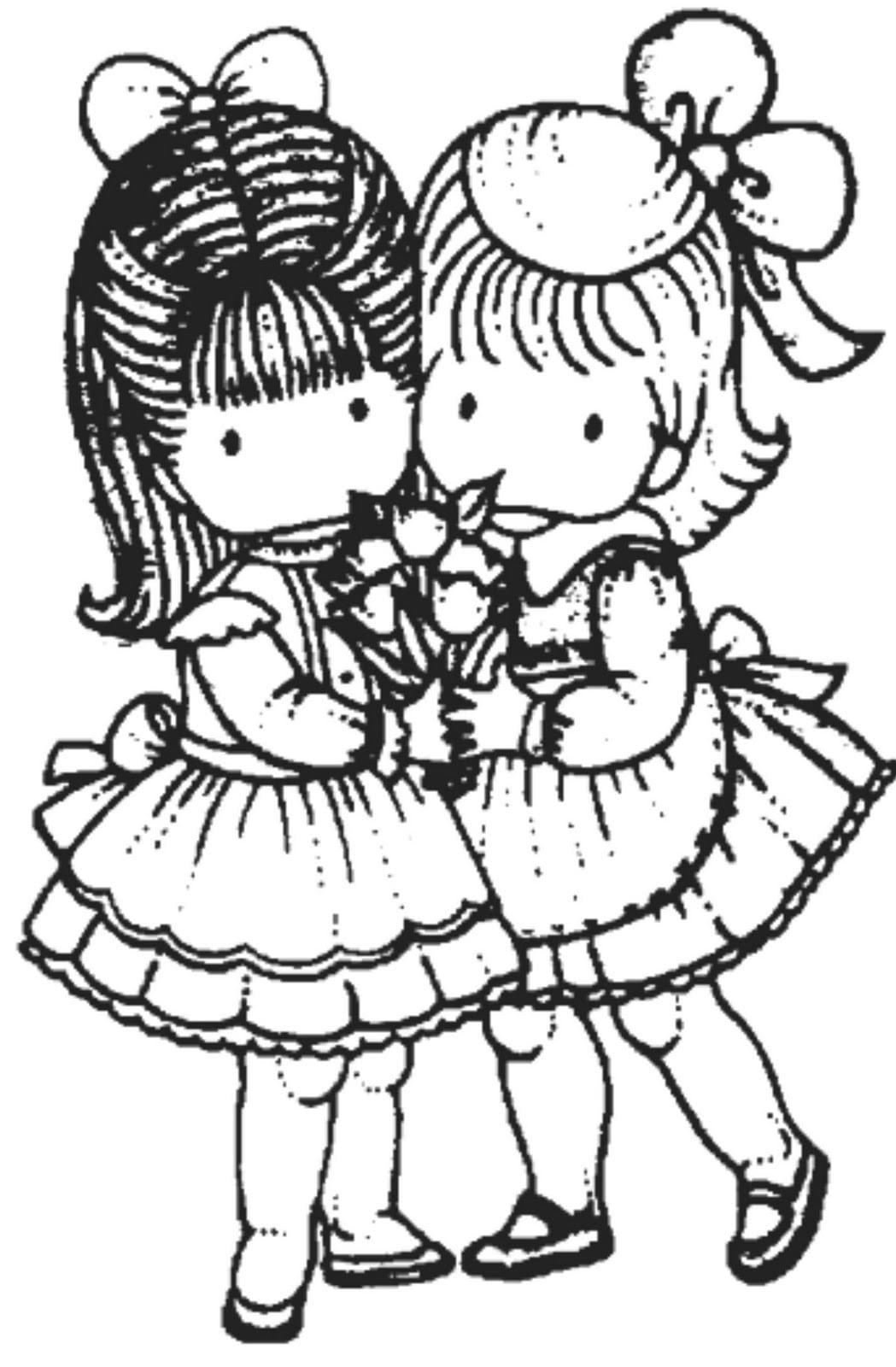 Desenhos Para Colorir De Amigas Sketch Coloring Page – Pampekids Net