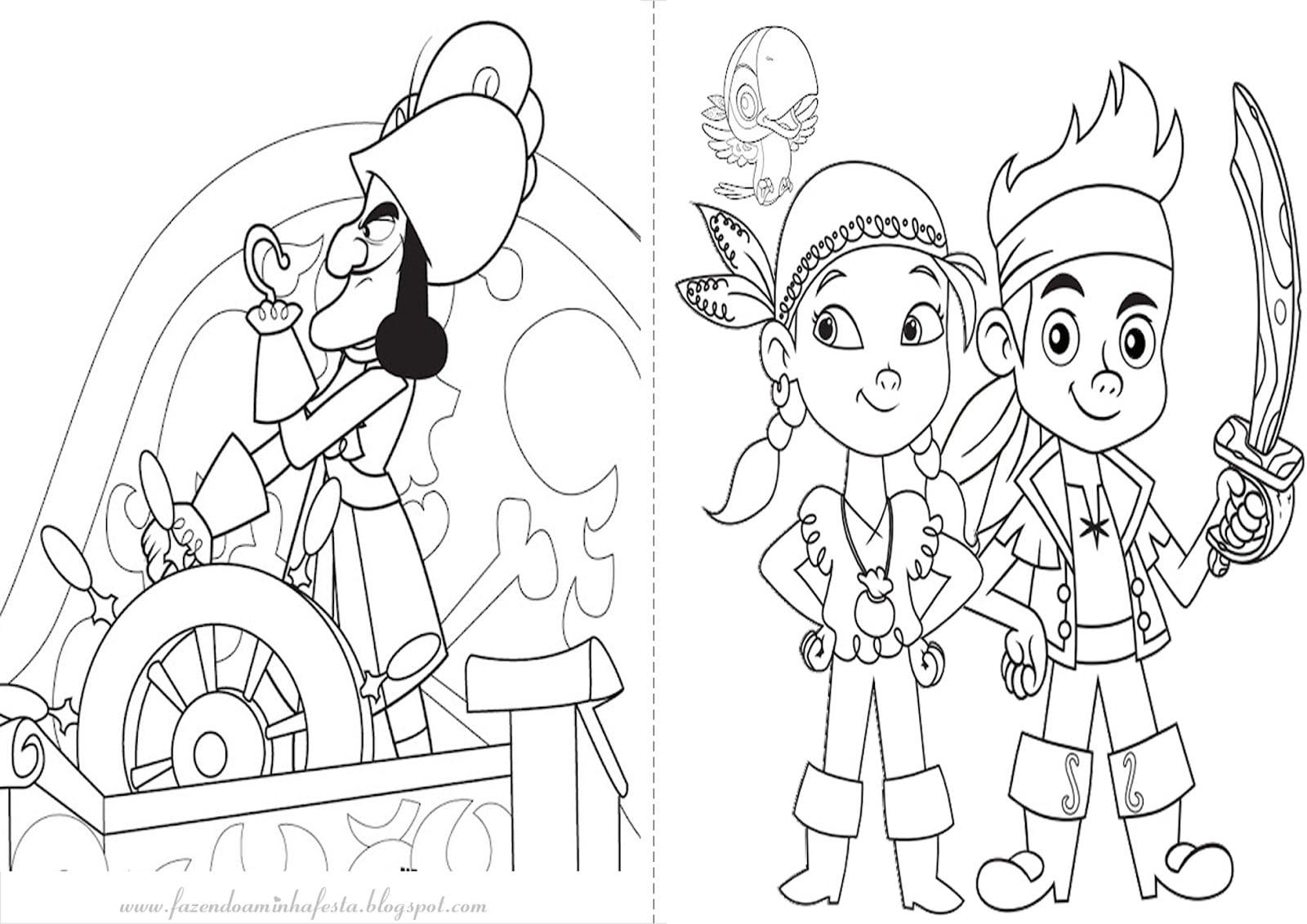 Desenho Do Jake E Os Piratas Da Terra Do Nunca