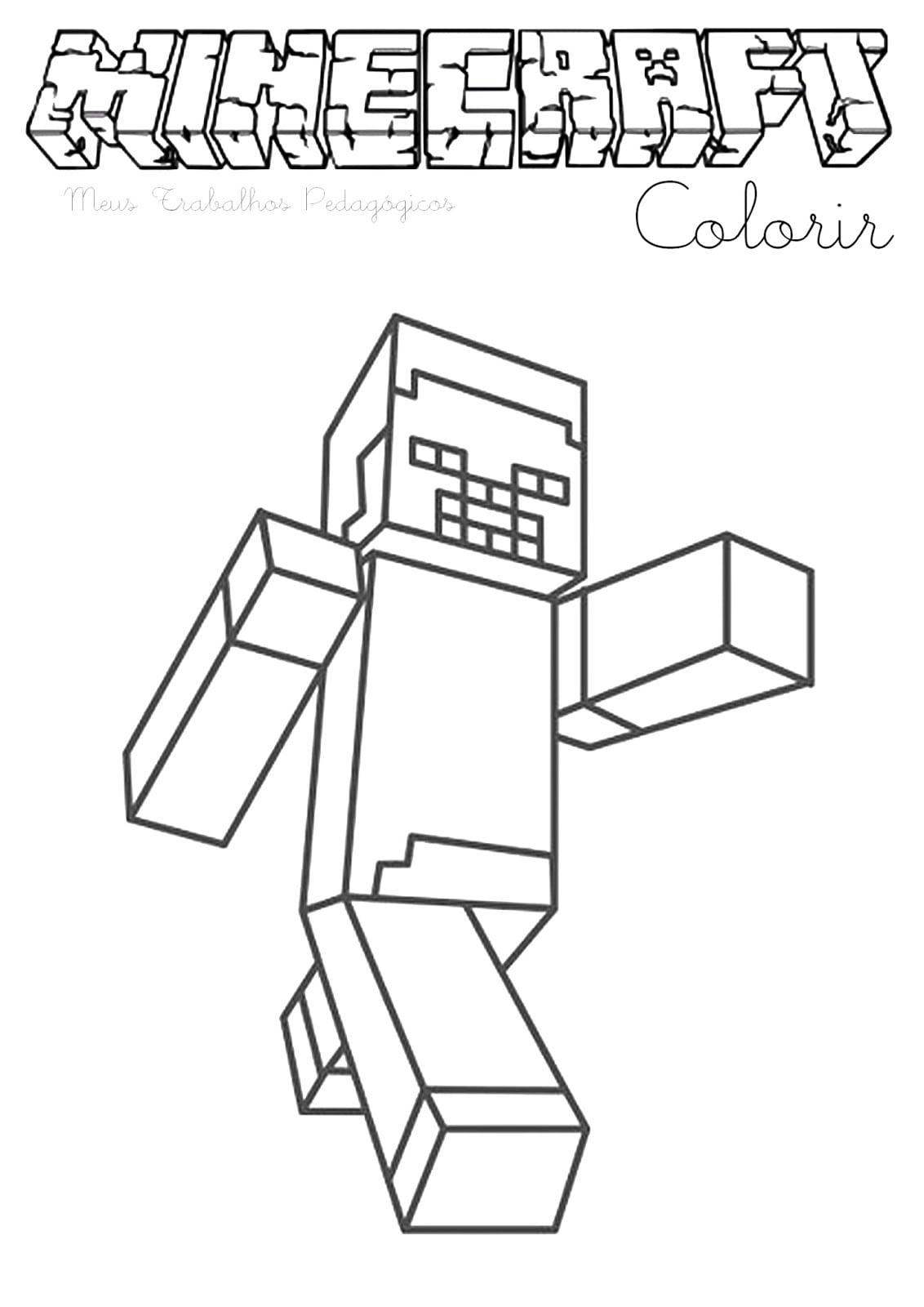 Desenhos Para Colorir Minecraft Para Imprimir  Desenhos Desenhos