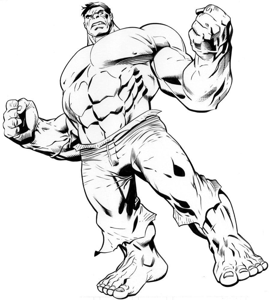 Desenhos Para Colorir Do Hulk  Desenhoswiki Com
