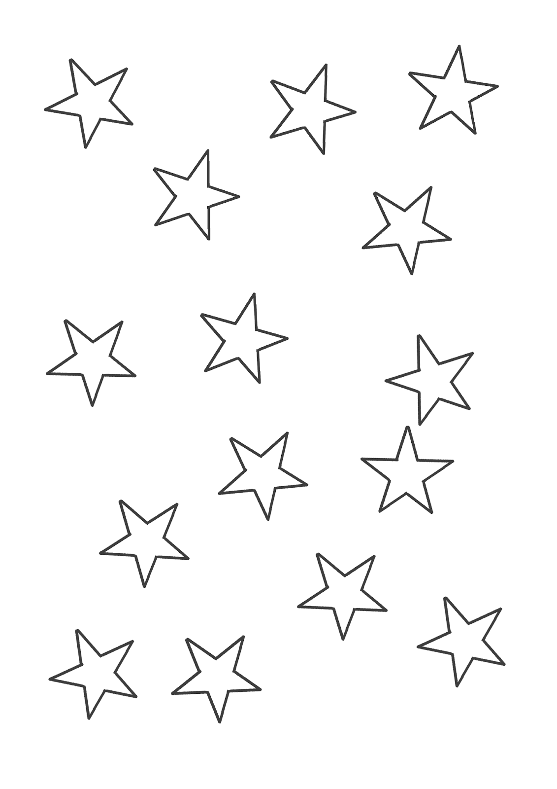 Desenhos Para Pintar Desenhos De Estrelas Para Colorir – Pampekids Net
