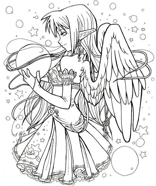 La Pagina Para Colorear De Anime By Dibujos