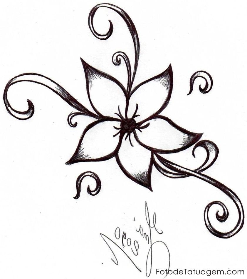 Desenhos Para Tatuagem De Flores – Pampekids Net
