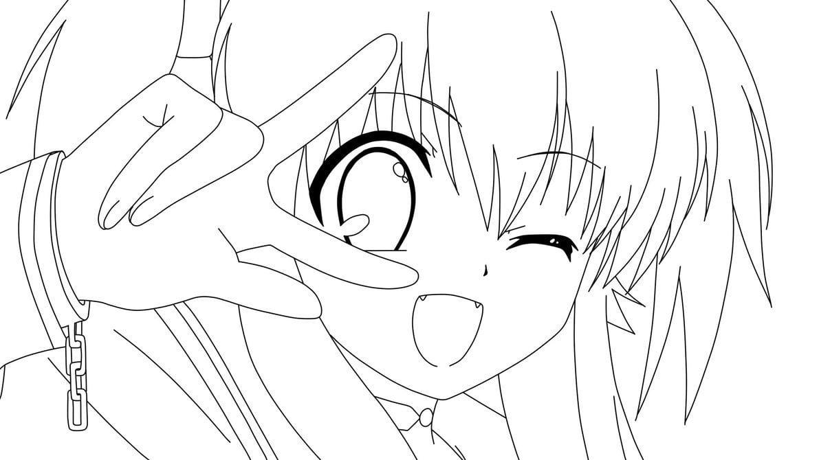Angel De Anime Para Colorear
