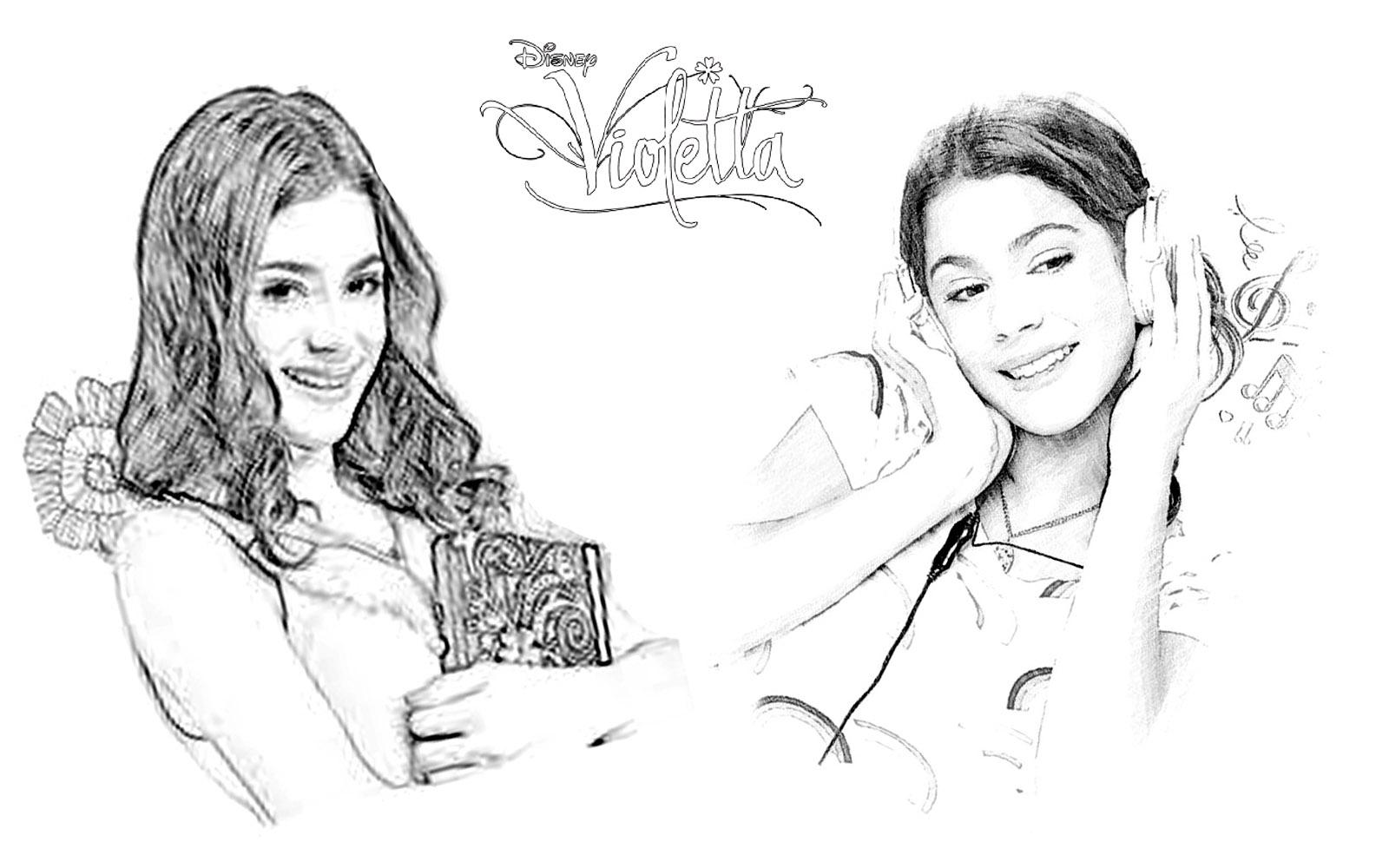 Desenhos Para Colorir Da Violetta Disney Channel – Pampekids Net