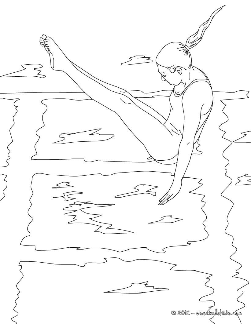 Desenhos Para Colorir De Mergulho Jogos Olimpicos Para Colorir