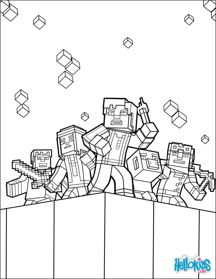 Página Para Colorir Minecraft