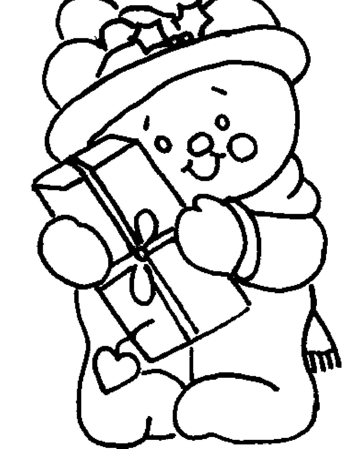 Figura De Natal Para Colorir