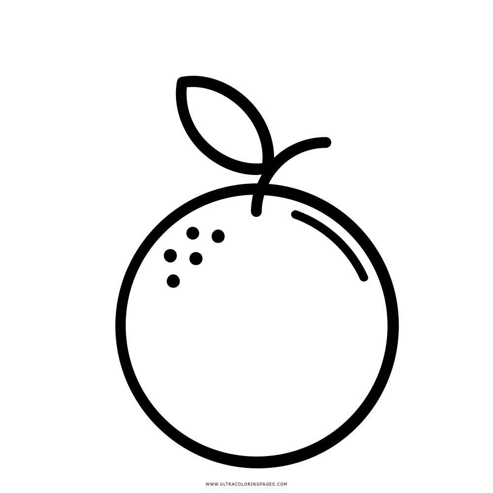 Dibujos de Frutas para colorear, descargar e imprimir ... |Naranja Para Colorear