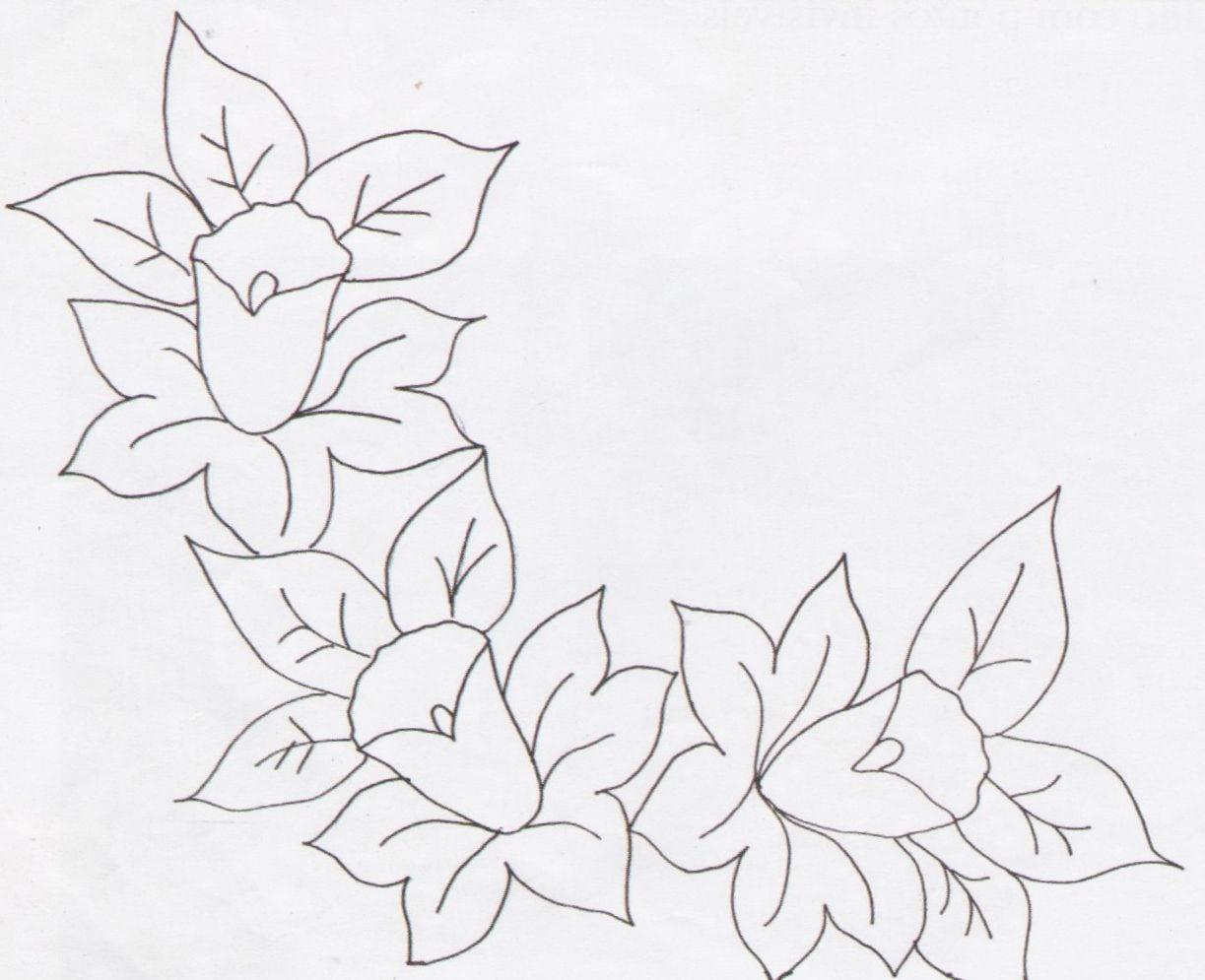 Desenhos E Riscos De Flores Variadas Para Usar Em Pintura