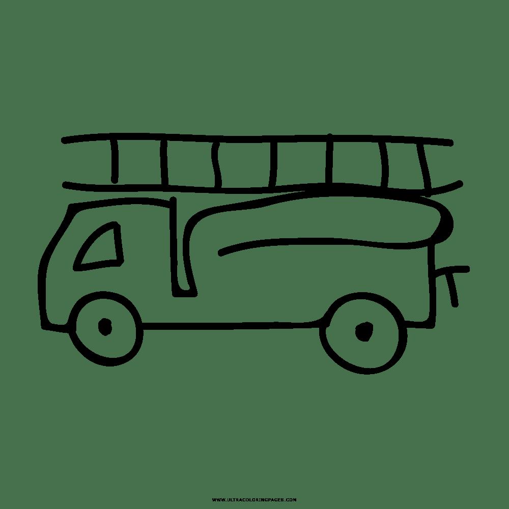 Caminhão De Bombeiros Desenho Para Colorir