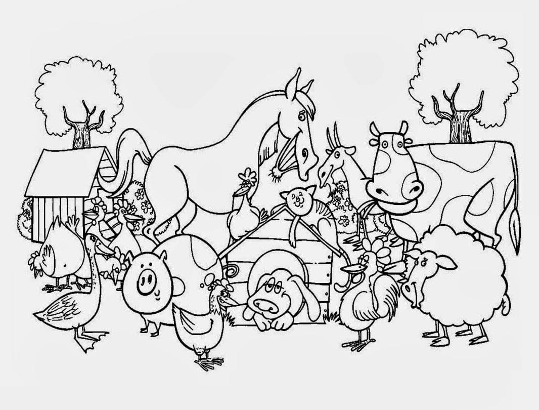 Desenhos Para Colorir Animais Da Fazenda – Pampekids Net